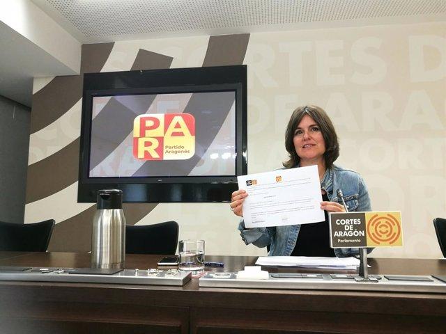 La diputada del PAR en las Cortes de Aragón, Elena Allue