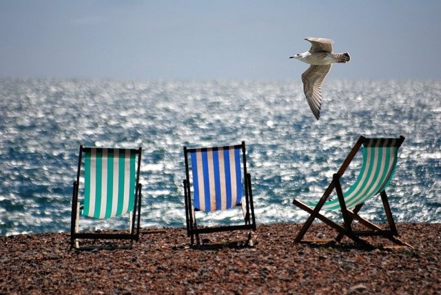 Playa, vacaciones, verano