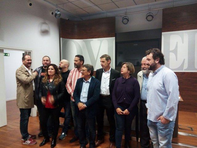 Participantes y organizadores de la jira al Naranco