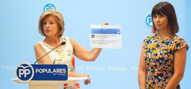 Oña con Ruth Sarabia sanidad málaga SAS criticas PP popular parlamentaria