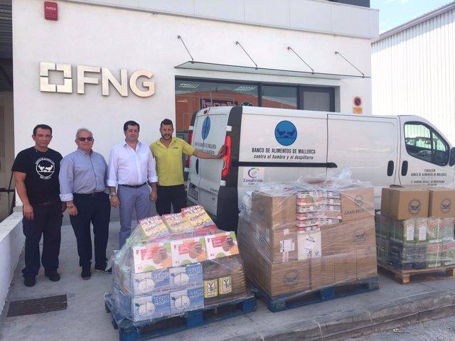 FNG entrega más de 800 kg de comida al Banco de Alimentos