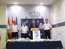 Seis detenidos en una operación en Logroño y Viana en la que se han intervenido 16 kilos de speed