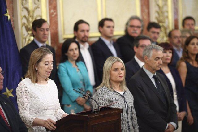 Ana Pastor y Mari Mar Blanco en el homenaje a las víctimas del terrorismo