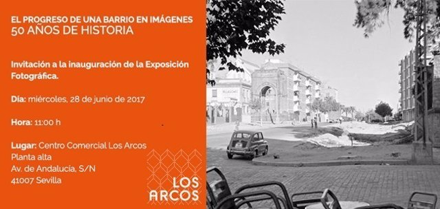 Invitación a la exposición 'El progreso de un barrio en imágenes'