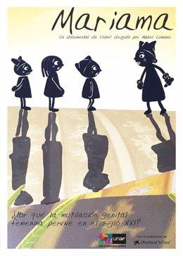 Cartel del corto de UNAF, 'Mariama'