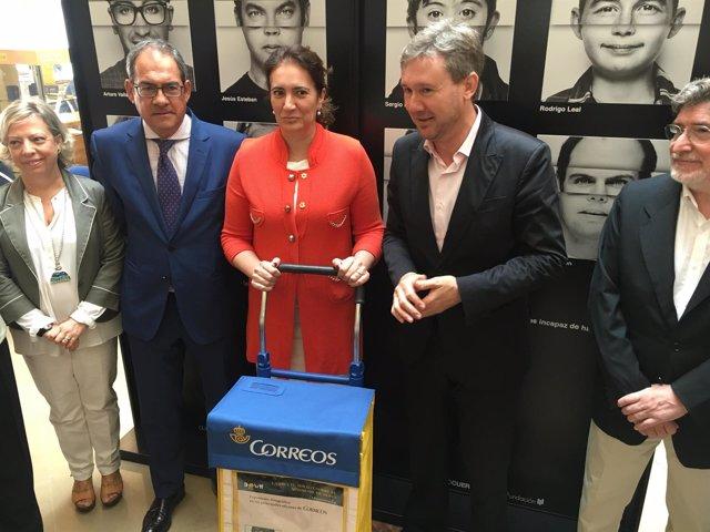 Baudilio Fernández-Mardomingo, osefa García-Cirac y Javier Lacalle