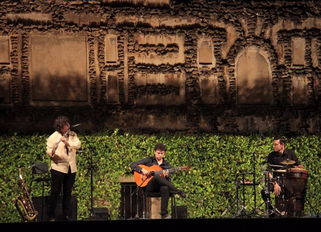 Actuación en uno de los conciertos de las 'Noches en los Jardines del Alcázar'.