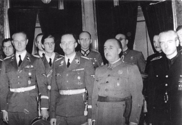 Empfang des Reichsfühers SS Himmler beim CaudilloWährend seines Aufenthaltes in
