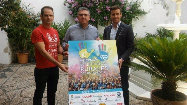 Torralbo (dcha.) durante la presentación de las olimpiadas