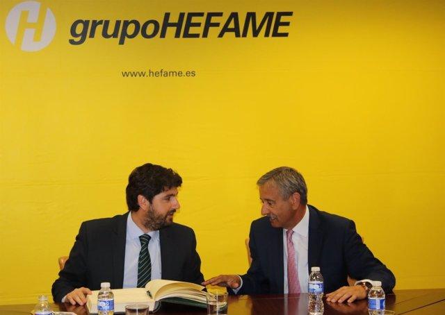 López Miras visita las instalaciones de Hefame