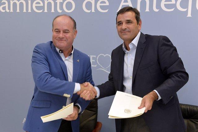 Manuel Barón convenio con Puerto Seco Antequera