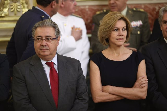Juan Ignacio Zoido y Cospedal en el homenaje a la víctimas en el Congreso