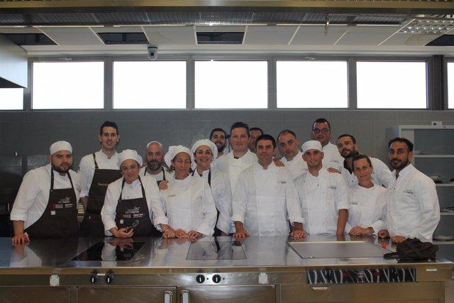 Algunos de los participantes en el curso de experto en cocina tecnológica