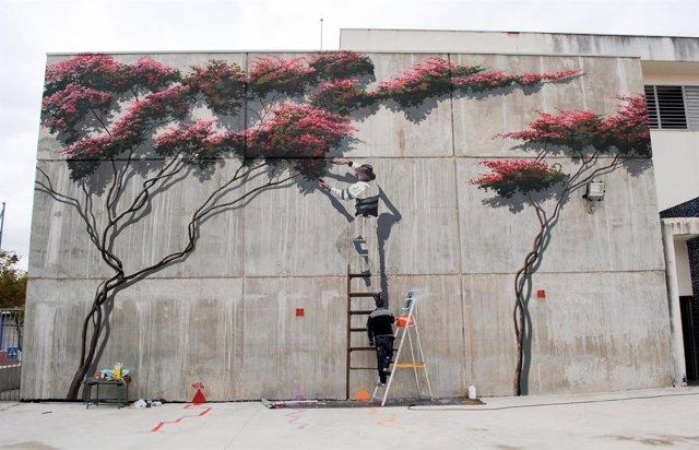 Mural de José Fernández Ríos Ruta de Murales Artísticos de Estepona