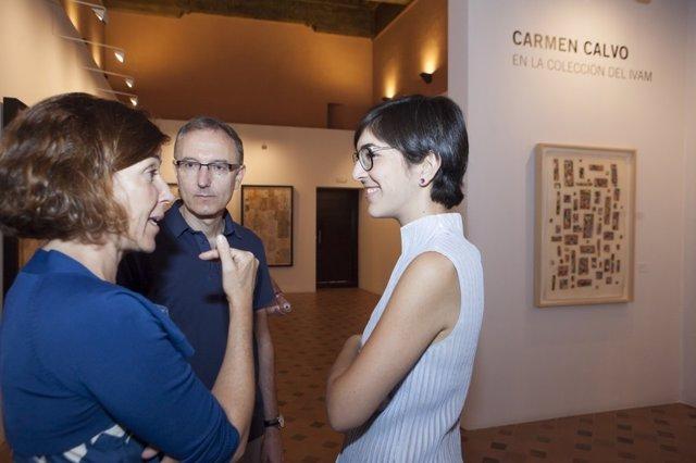 Inauguración de la exposición 'Carmen Calvo en la colección del IVAM'