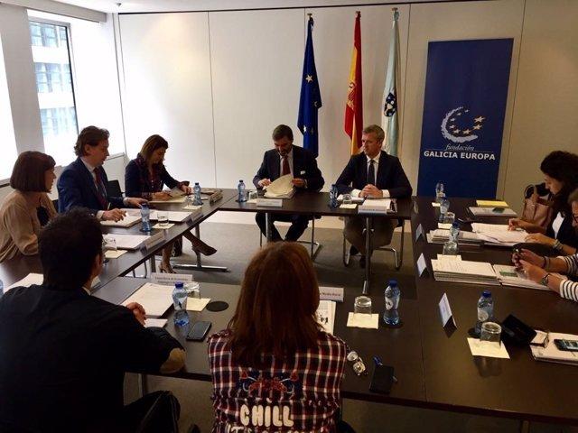 Rueda participa en Bruselas en la reunión de la Fundación Galicia Europa