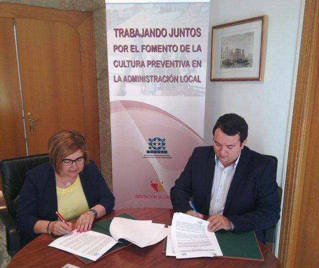 Nota Convenio Diputación Cáceres Fempex
