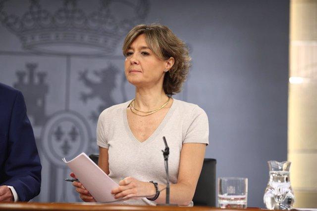 Isabel García Tejerina tras el Consejo de Ministros