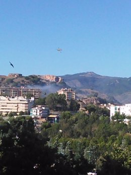 Incendio en Málaga en Málaga