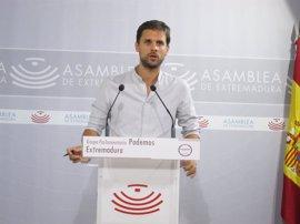 """Podemos Extremadura tacha de """"política ficción a raudales"""" el discurso de Vara"""