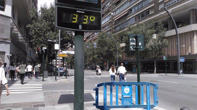Termómetro, calor
