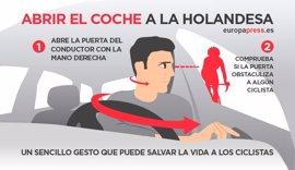 Abrir el coche a la holandesa: un sencillo gesto que puede salvar la vida a los ciclistas