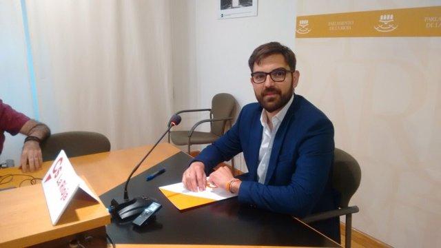 El portavoz del Grupo de Ciudadanos, Diego Ubis