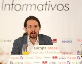 """Iglesias reconoce que la soberanía nacional reside en el pueblo español pero apunta """"complejidades"""" en su ejercicio"""