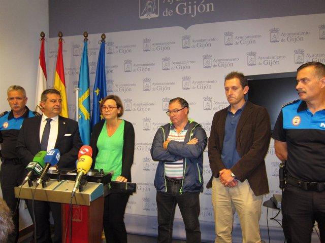 Carmen Moriyon, Esteban Aparicio, Valentín Cuesta (Nuevo Responsable De Protecci