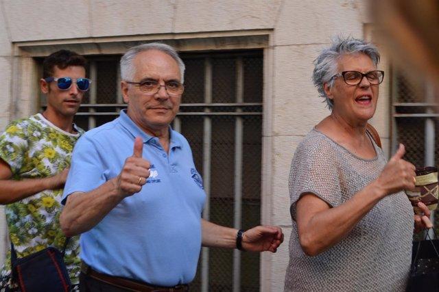 Los padres del diputado Álvaro Gijón, tras declarar por el Caso ORA