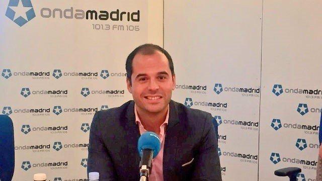 Ignacio Aguado en una entrevista en Onda Madrid
