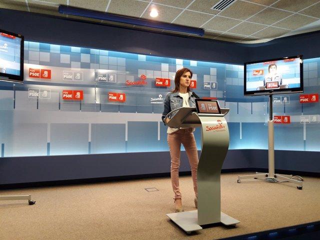 La parlamentaria del PSN Nuria Medina.