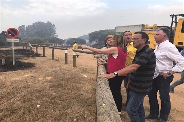 Incendio de Moguer llega al Espacio Natural de Doñana