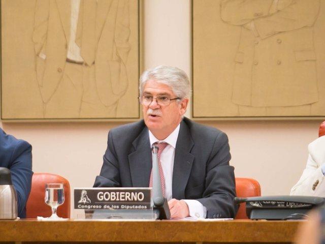 Alfonso Dastis, en la Comisión de Seguridad Nacional