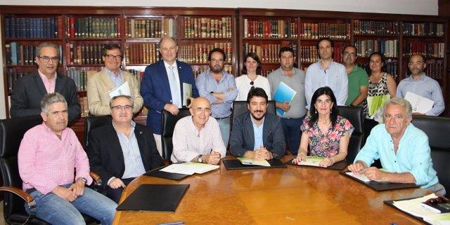 Reunión de colegios profesionales sanitarios de Extremadura