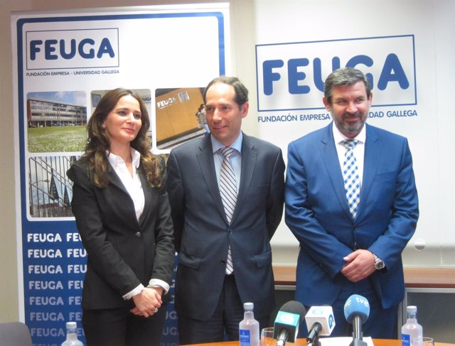 Clara Cerdán, Luis Míguez y José María Merino (Ferroatlántica)