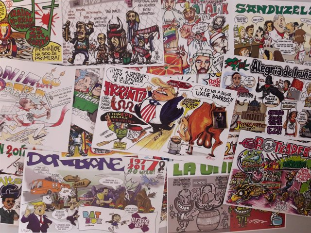 Pancartas de las peñas de San Fermín para 2017.