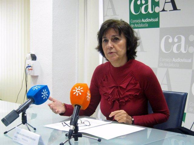 Emelina Fernández, presidenta del Consejo Audiovisual