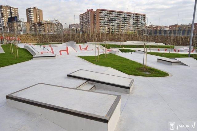 Parque de skate de Madrid Río