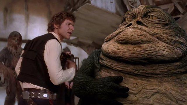 Han Solo y Jabba en Star Wars