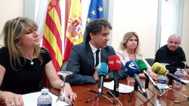 De izq a dcha: Cristina Rodes, Francesc Colomer, Eva Montesinos y Antonio Rodes