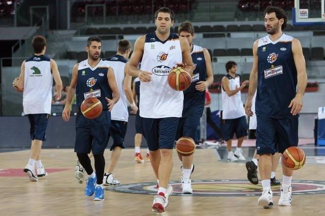 Navarro, Felipe Reyes y Garbajosa selección España
