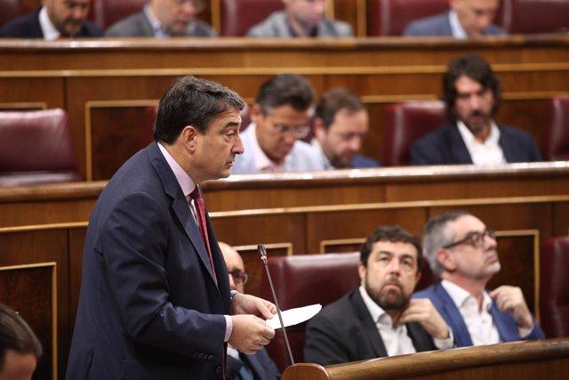 Aitor Esteban durante la sesión de control al Gobierno en el Congreso
