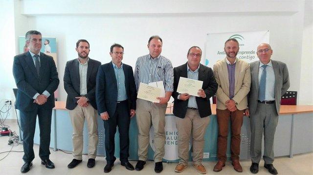 Ganadores de los premios Andalucía Emprende en Almería