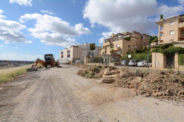 Obras de aparcamientos en Tomares