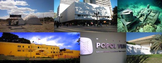 Fachadas de distintos museos Iberoamericanos