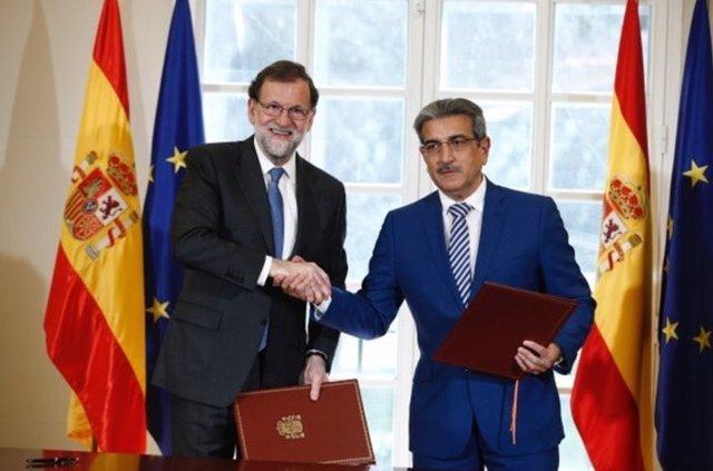 Mariano Rajoy y Román Rodriguez, acuerdo presupuestos Nueva Canarias