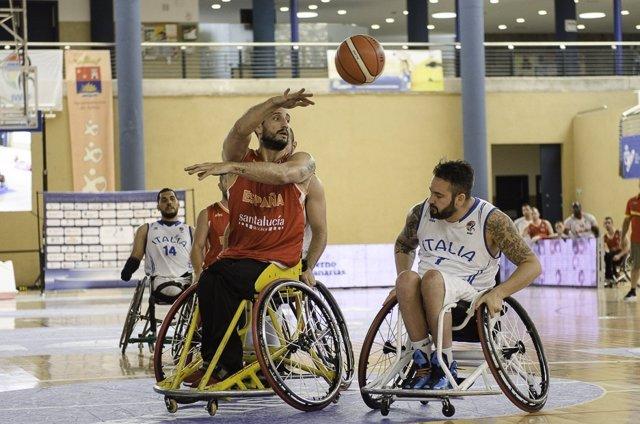 España ante Italia en el Europeo en silla de ruedas