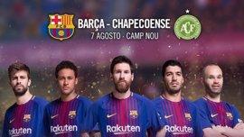 El FC Barcelona se medirá al Chapecoense en el Gamper el 7 de agosto