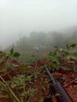 Helicóptero usado en el ataque contra el TSJ de Venezuela